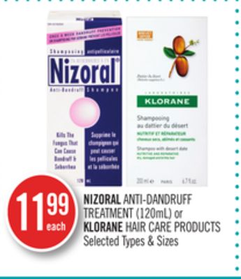 Nizoral Anti-dandruff Treatment (120ml) or Klorane Hair Care Products