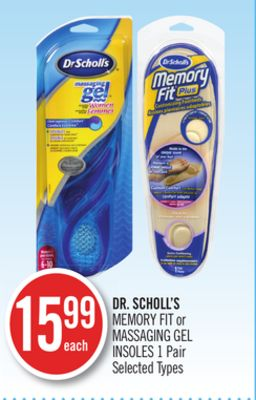 Dr. Scholl's Memory Fit or Massaging Gel Insoles