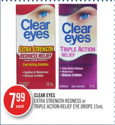 Clear Eyes Extra Strength Redness or Triple Action Relief Eye Drops