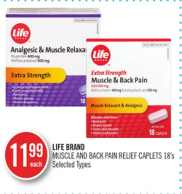 Life Brand Muscle And Back Pain Relief Caplets
