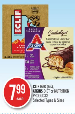 Clif Bar (6's) - Atkins Diet or Nutrition Products