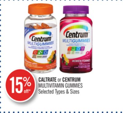 Caltrate or Centrum Multivitamin Gummies