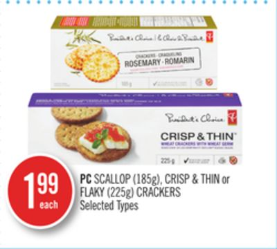 PC Scallop (185g) - Crisp & Thin or Flaky (225g) Crackers