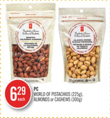 PC World Of Pistachios (225g) - Almonds or Cashews (300g)