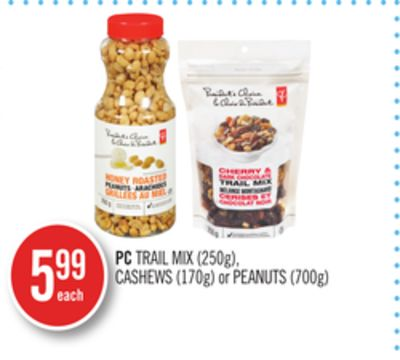PC Trail Mix (250g) - Cashews (170g) or Peanuts (700g)