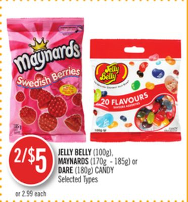 Jelly Belly(100g) - Maynards (170g - 185g) or Dare (180g) Candy