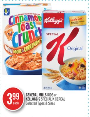 General Mills Kids or Kellogg's Special K Cereal