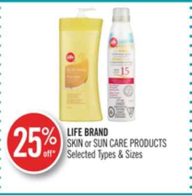 Life Brand Skin or Sun Care Products