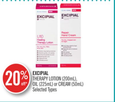 Excipial Therapy Lotion (200ml) - Oil (225ml) or Cream (50ml)