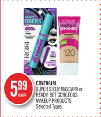 Covergirl Super Sizer Mascara or Ready - Set Gorgeous Makeup Products