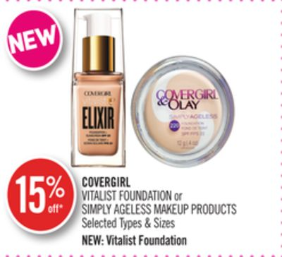 Covergirl Vitalist Foundation or Simply Ageless Makeup Products