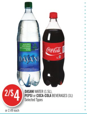 Dasani Water (1.5l) - Pepsi or Coca-cola Beverages (1l