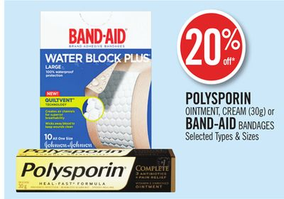 Polysporin Ointment - Cream (30g) or Band-aid Bandages