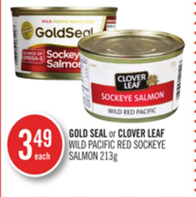 Gold Seal or Clover Leaf Wild Pacific Red Sockeye Salmon