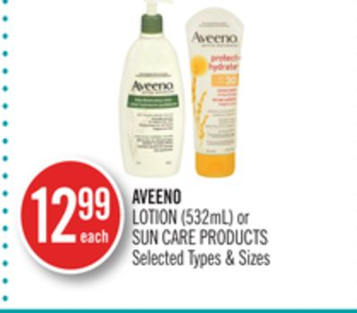 Aveeno Lotion (532ml) or Sun Care Products