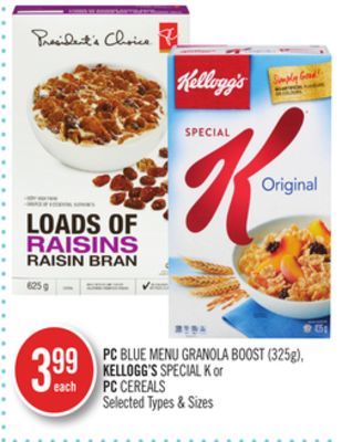 PC Blue Menu Granola Boost (325g) - Kellogg's Special K or PC Cereals