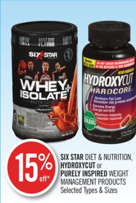 Six Star Diet & Nutrition - Hydroxycut or Purely Inspired Weight Management Products