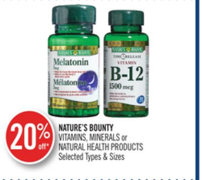 Nature's Bounty Vitamins - Minerals or Natural Health Products