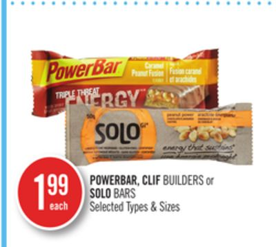 Powerbar - Clif Builders or Solo Bars