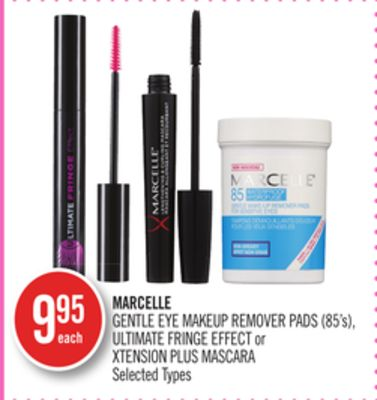 Marcelle Gentle Eye Makeup Remover Pads (85's) - Ultimate Fringe Effect or Xtension Plus Mascara