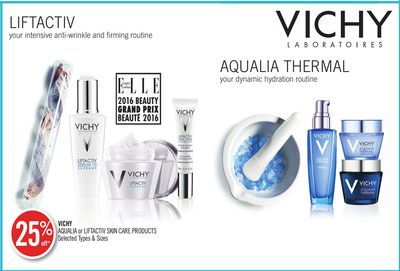 Vichy Aqualia or Liftactiv Skin Care Products