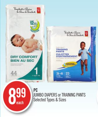PC Jumbo Diapers or Training Pants