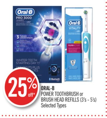 Oral-b Power Toothbrush or Brush Head Refills