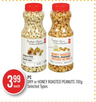 PC Dry or Honey Roasted Peanuts
