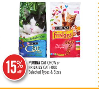 Purina Cat Chow or Friskies Cat Food