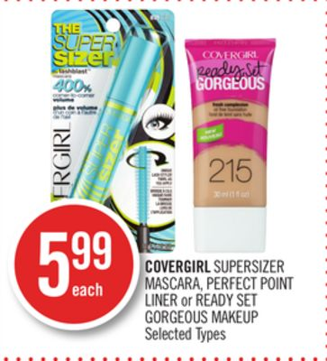 Covergirl Supersizer Mascara - Perfect Point Liner or Ready Set Gorgeous Makeup