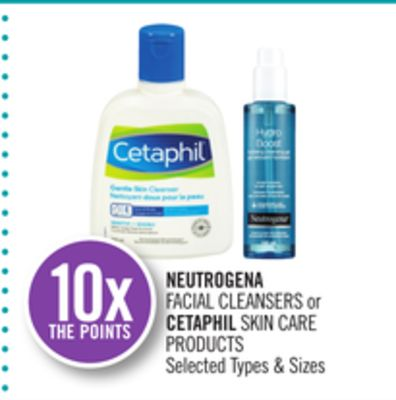 Neutrogena Facial Cleansers or Cetaphil Skin Care Products