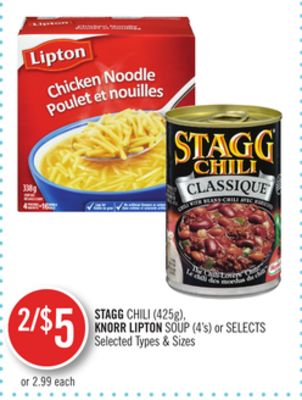 Stagg Chili (425g) - Knorr Lipton Soup (4's) or Selects