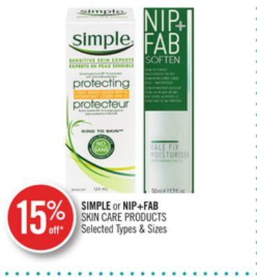 Simple or Nip+fab Skin Care Products