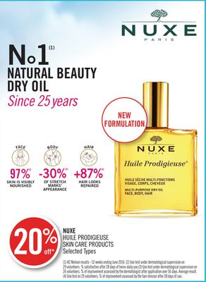 Nuxe Huile Prodigieuse Skin Care Products