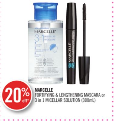 Marcelle Fortifying & Lengthening Mascara or 3 In 1 Micellar Solution (300ml)