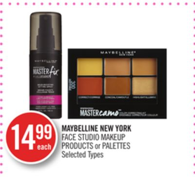 Maybelline New York Face Studio Makeup Products or Palettes