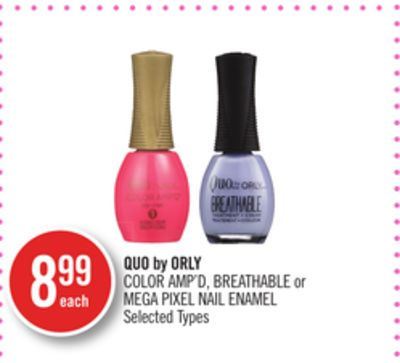 Quo By Orly Color Amp'd - Breathable or Mega Pixel Nail Enamel