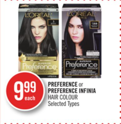 Preference or Preference Infinia Hair Colour