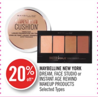 Maybelline New York Dream - Face Studio or Instant Age Rewind Makeup Products