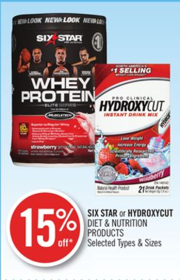 Six Star or Hydroxycut Diet & Nutrition Products