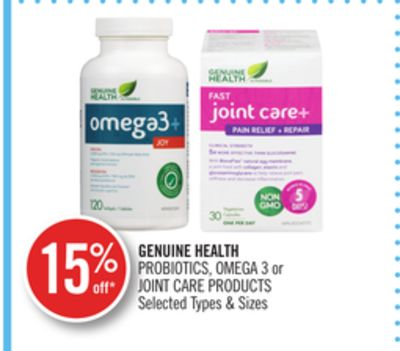 Genuine Health Probiotics - Omega 3 or Joint Care Products