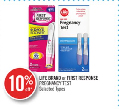 Life Brand or First Response Pregnancy Test