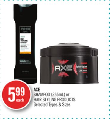 Axe Shampoo (355ml) or Hair Styling Products