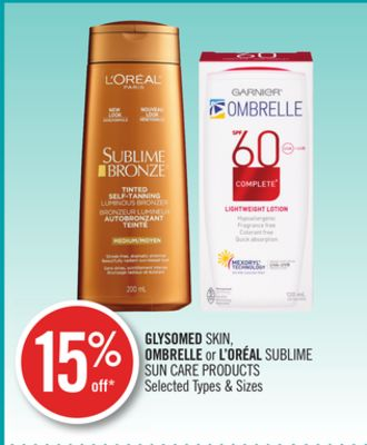 Glysomed Skin - Ombrelle or L'oréal Sublime Sun Care Products