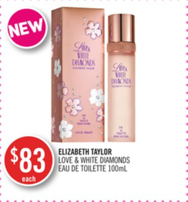 Elizabeth Taylor Love & White Diamonds Eau De Toilette 100ml