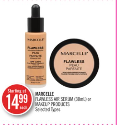 Marcelle Flawless Air Serum (30ml) or Makeup Products