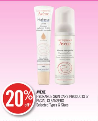 Avène Hydrance Skin Care Products or Facial Cleansers
