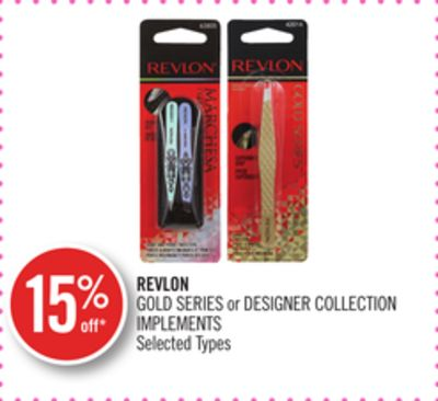 Revlon Gold Series or Designer Collection Implements