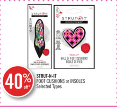 Strut-n-it Foot Cushions or Insoles