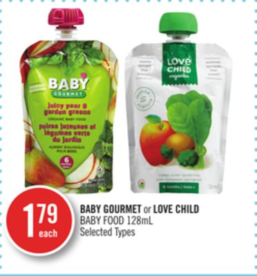 Baby Gourmet or Love Child Baby Food
